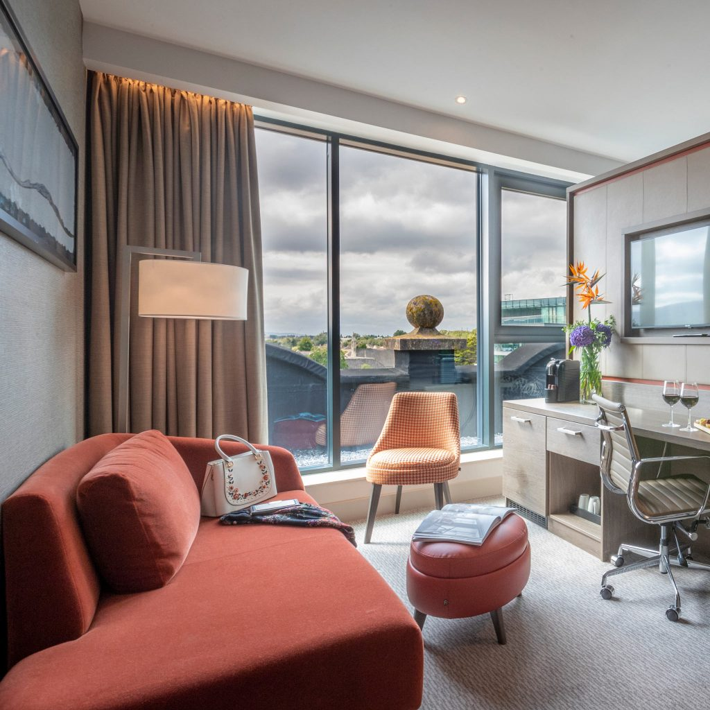 junior suite view from clayton hotel ballsbridge