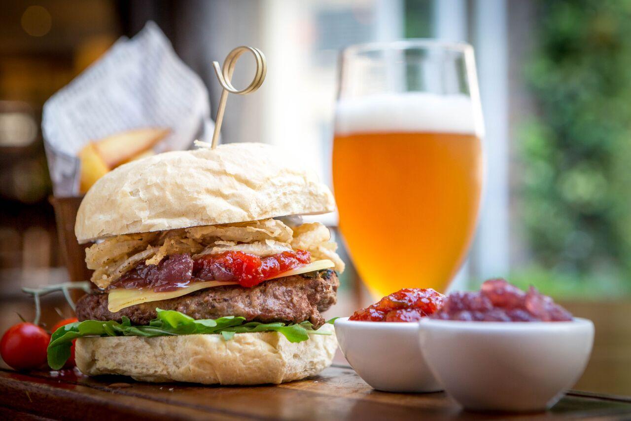 Burger-and-pint