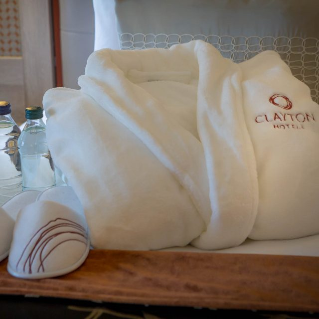bathrobe and slippers clayton hotels branded
