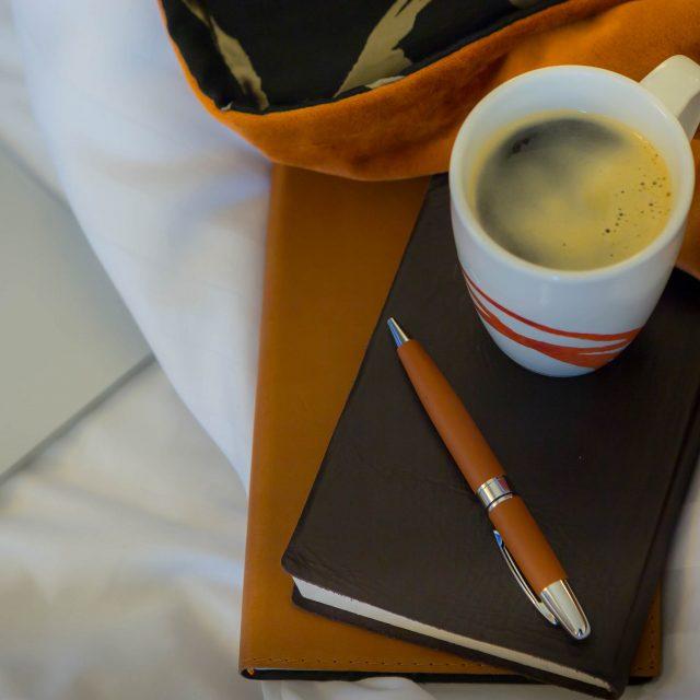 coffe agenda e pen
